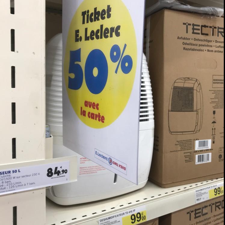 Tectro Déshumidificateur Td410 10 L (via 50€ sur la carte fidélité) - Orly (94)