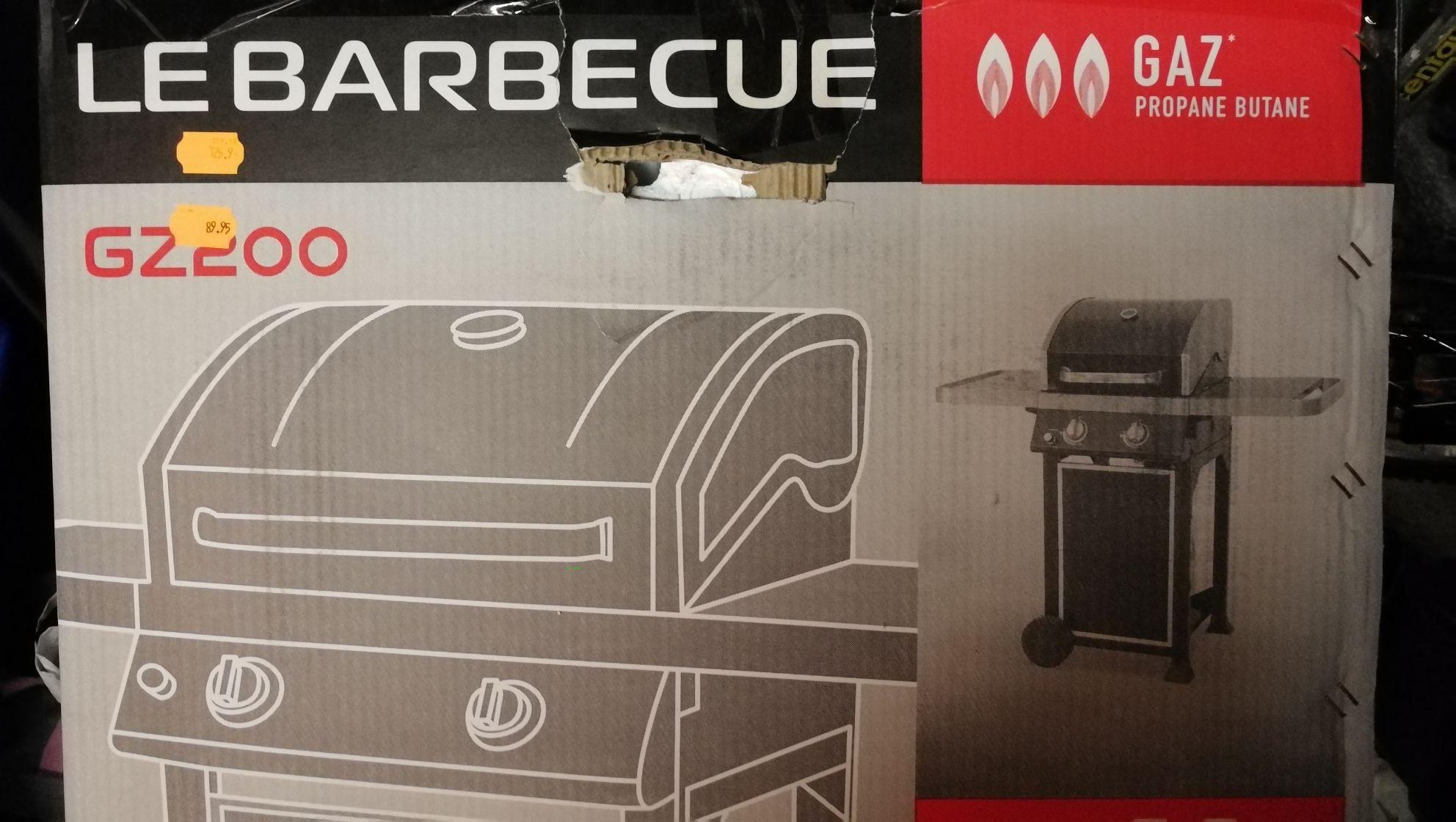 Barbecue à gaz Le Barbecue - 2 Bruieurs, Carrefour Isle Adam (95)