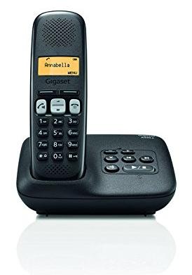 Téléphone sans fil répondeur Dect/Gap Gigaset A250A - Noir