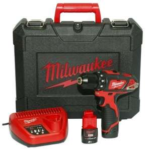 Perceuse visseuse  Milwaukee (12v) M12 BDD-202c - 2 x 2ah, Coffret + chargeur