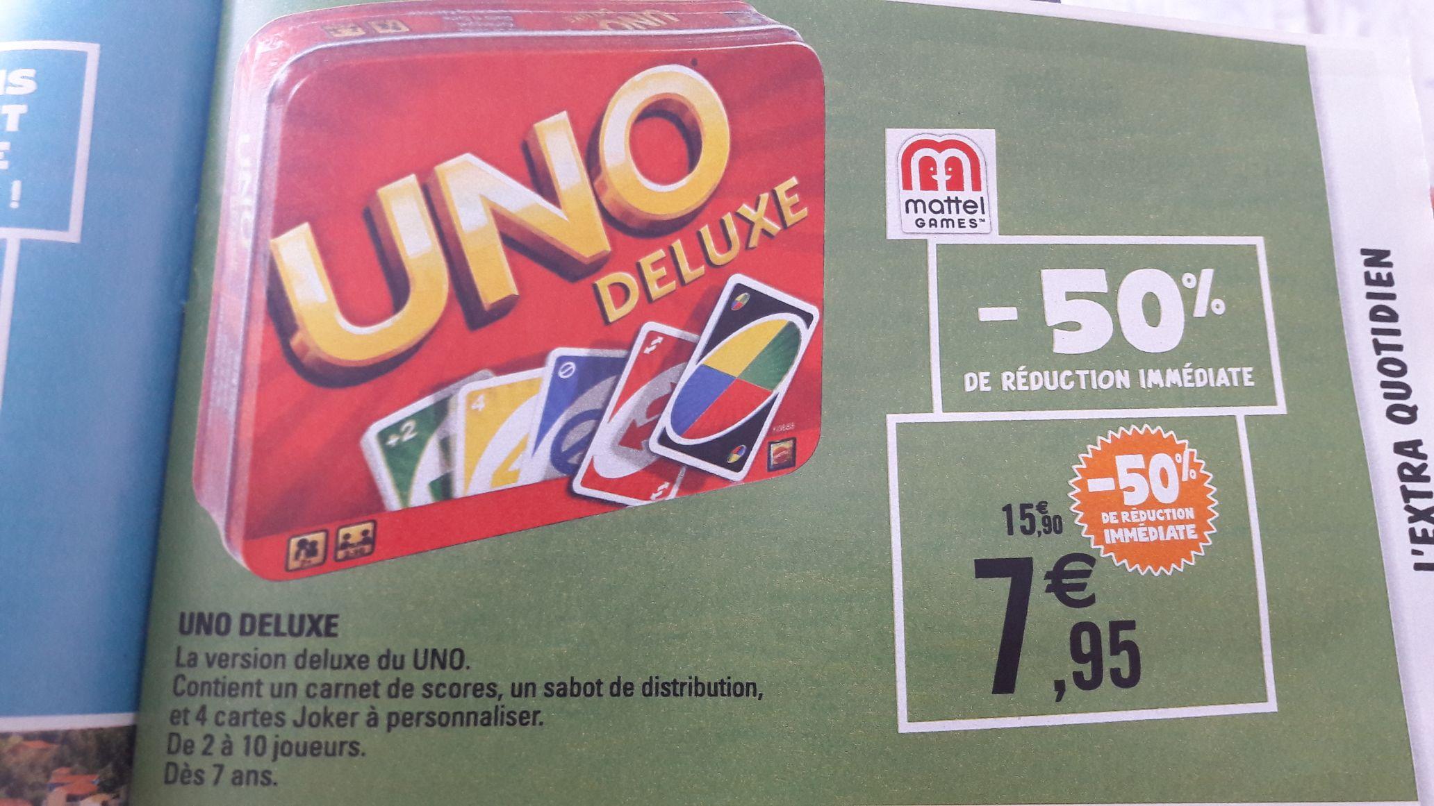 Jeu de carte Uno Deluxe