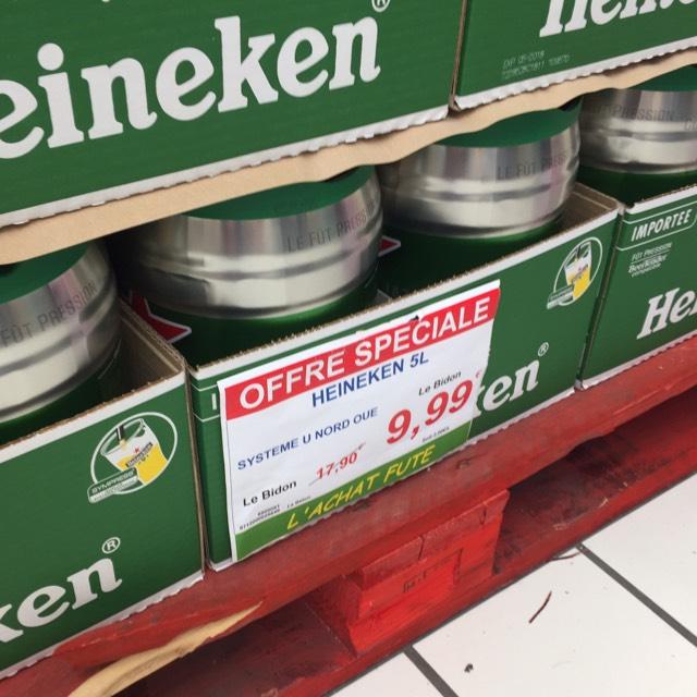 Fut de 5 litres de bière Heineken - O'Marché Frais Corbeil Essonne (91)