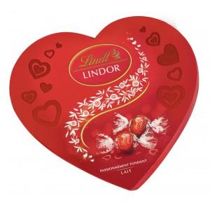 Boîte de chocolats Lindt - Coeur Boules Lidor Lait - 160g