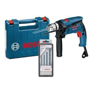 Perceuse à percussion BOSCH GSB 13 RE Professional 600W + Set de 4 forets