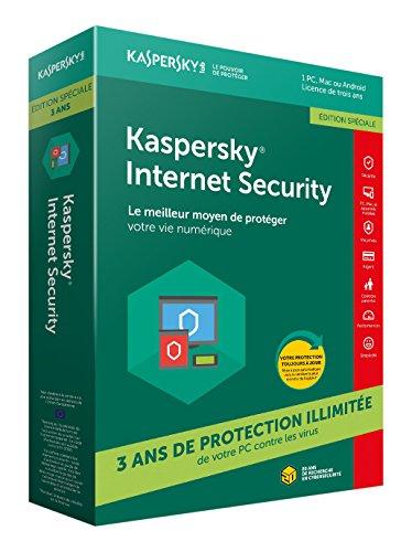 Kaspersky Internet Security 1 PC pour 3 ans