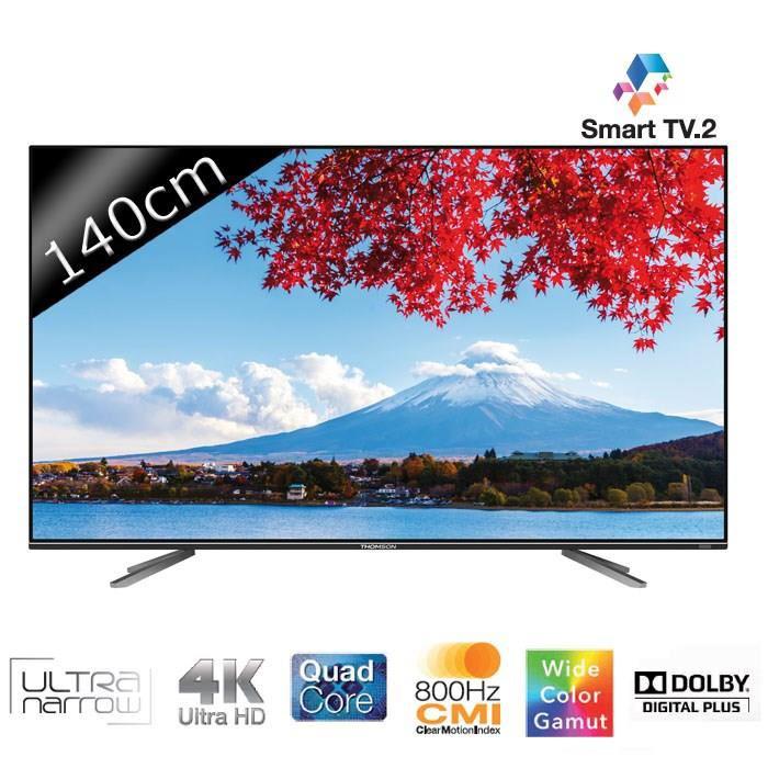 """TV LED 55"""" Thomson 55UA7706 - Smart TV, UHD 4K, 3D (avec ODR 300€)"""