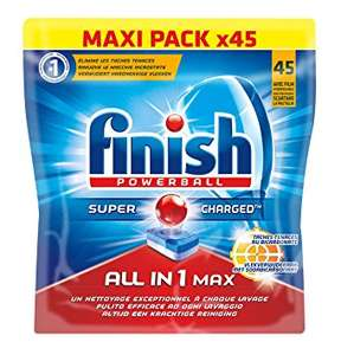 2 paquets de tablettes lave-vaisselles Finish Powerball (x45)