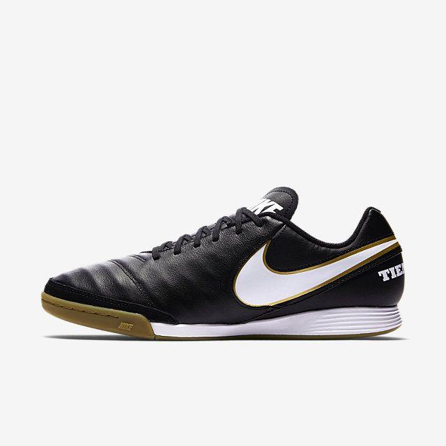 Chaussure de football en salleNike Tiempo Genio II Leather IC - Noir