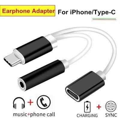 Adaptateur USB type-C / Lightning vers Jack et USB Femelle type-C - Coloris au choix (Via Applications Mobiles)