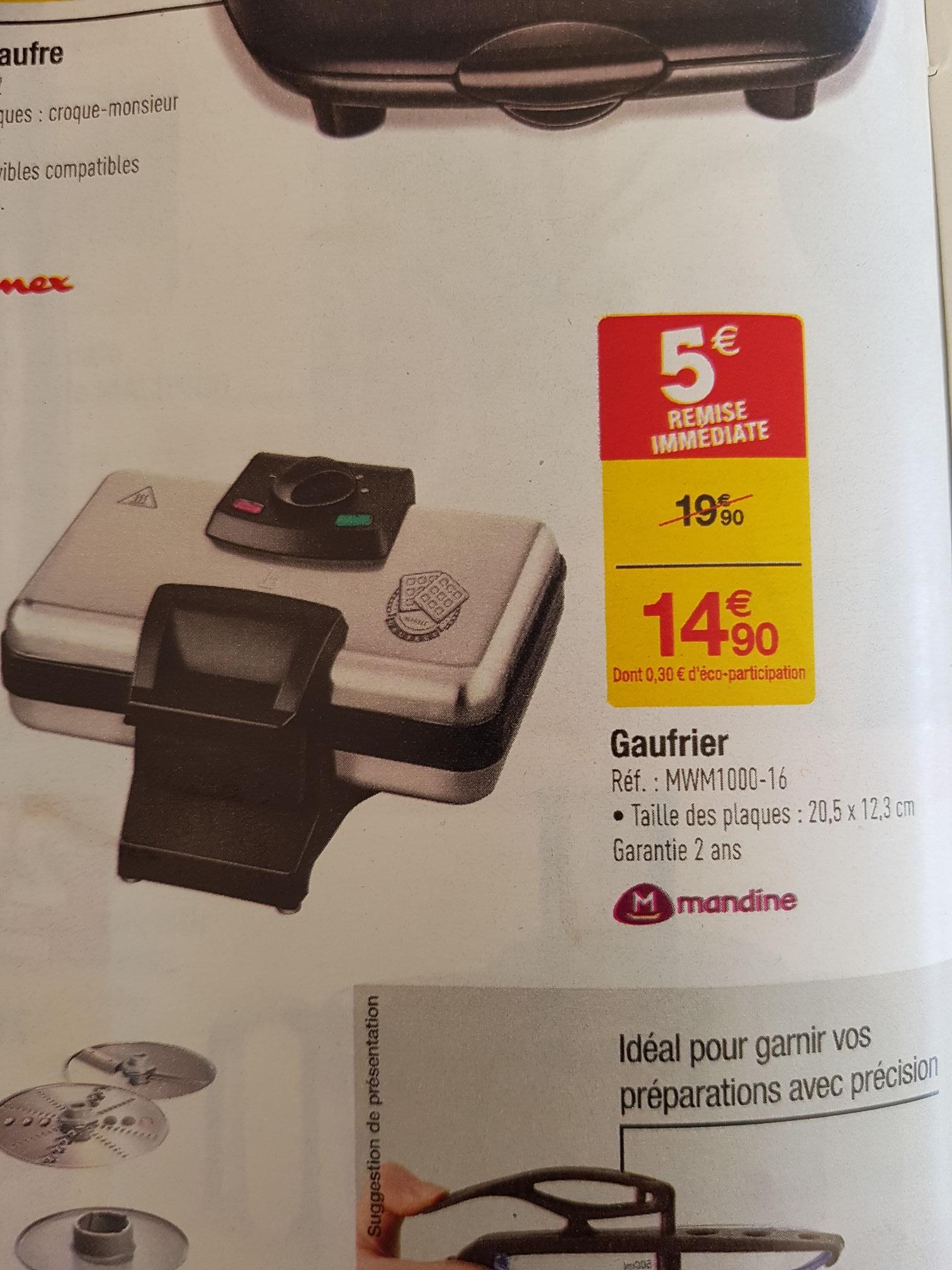 Gaufrier Mandine MWM1000-16