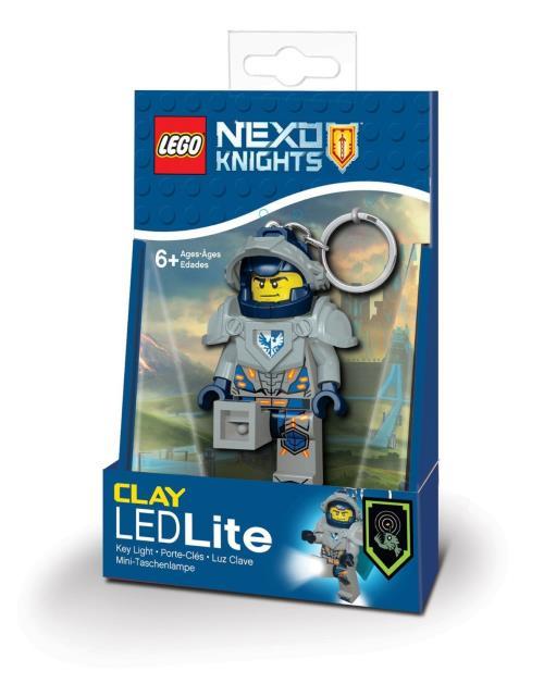 Porte-clés LED Lego Nexo Knights Clay