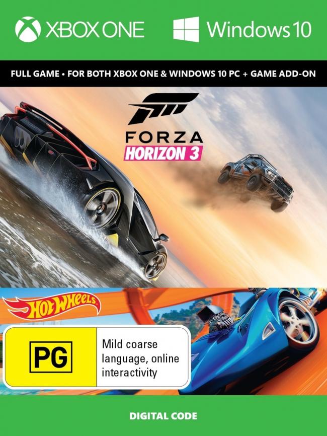 Forza Horizon 3 + Hot Wheels Xbox One/PC Digital Code + assassin Creed unity offert (Dématérialisé)