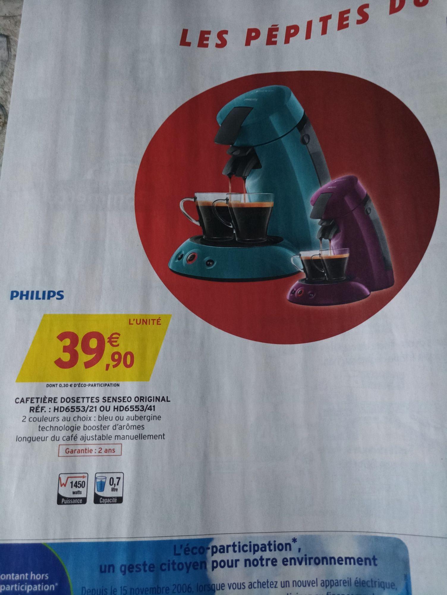 Cafetière à dosettes Philips Senseo - Bleu ou Aubergine