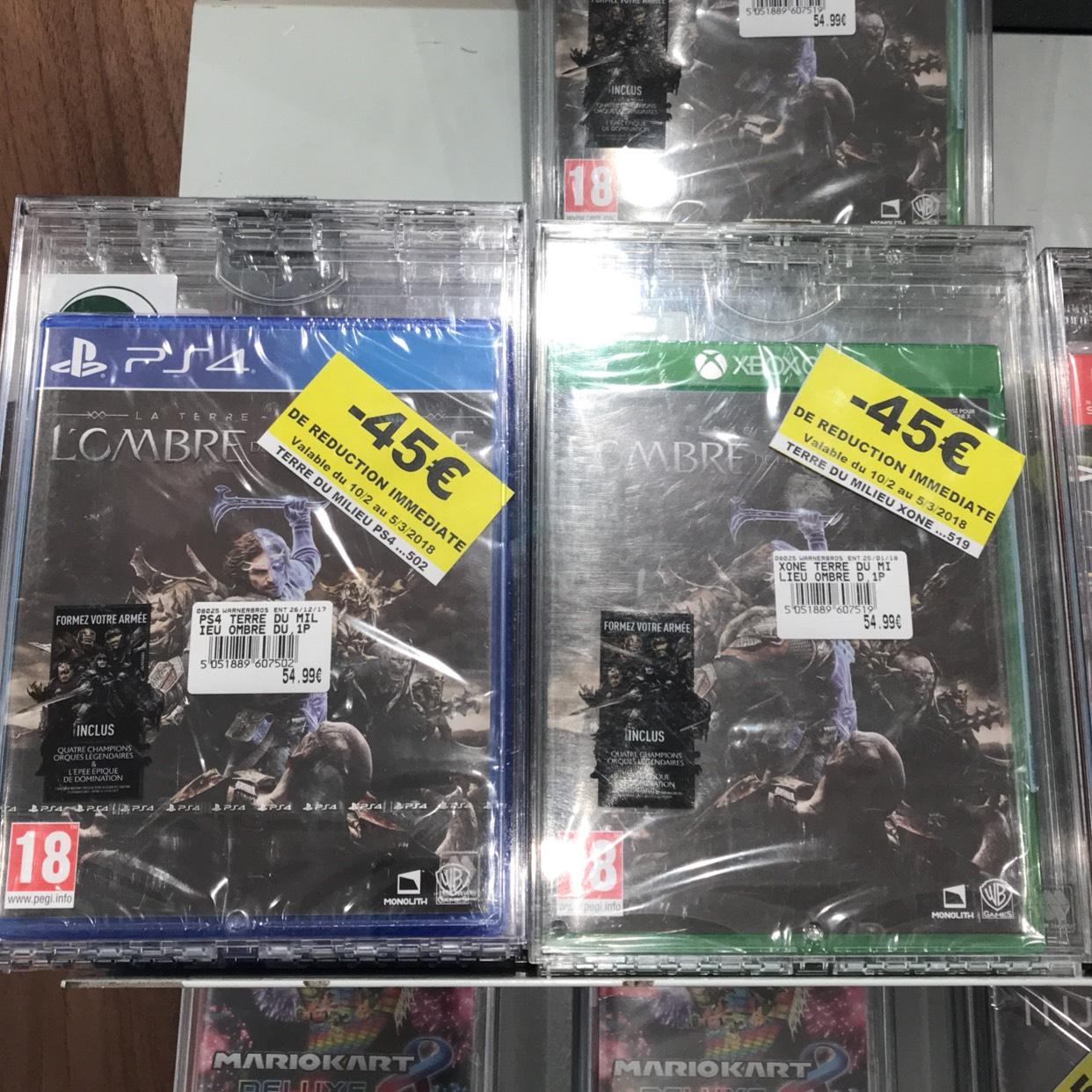 Jeu La Terre du Milieu: L'Ombre de la Guerre sur PS4 ou Xbox One - Leclerc Carrière sous poissy (78)