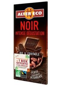 Tablette de Chocolat Noir Alter Eco Bio (Variétés au choix) - 100g