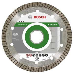 Disque à Tronçonner 125mm Diamant Bosch Professional 2608602479 Best Ceramic Turbo EC (Vendeur Tiers)