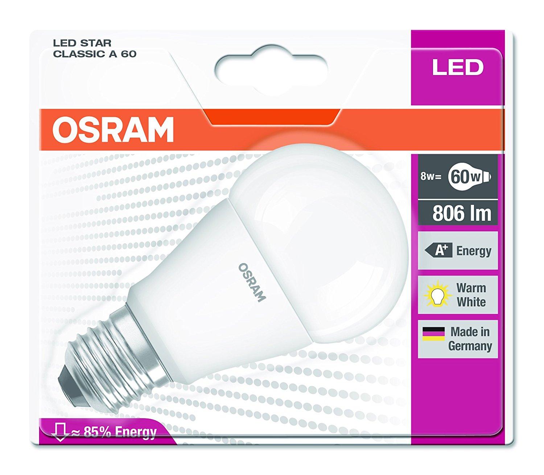 [Panier Plus] Ampoule Osram Led Star Classic A - E27 - Blanc  - Equivalent 60 W