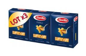 Lot de 3 x 500g de pâtes Barilla (via 1€ sur la carte fidélité)