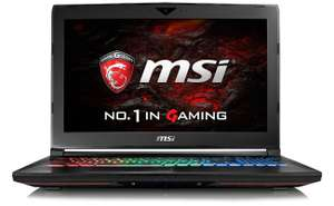 "PC portable 15.6"" full HD MSI Dominator Pro GT62VR 7RE-441XFR - IPS G-Sync 120Hz, i7-7700HQ, GTX-1070, 8 Go de RAM, 1 To + 128 Go en SSD, sans OS"