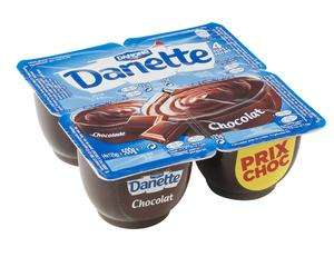 3 paquets de 4 Danette au choix (via application Danone + BDR)