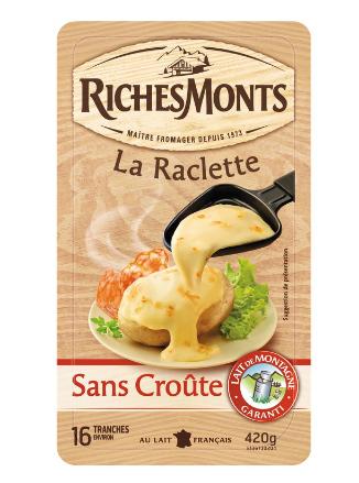 Lot de 2 Paquets de Fromage à Raclette RichesMonts - 2 x 420g (via Carte de Fidélité + BDR + Appli)