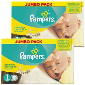Couches Jumbo Pack 2x72 changes   Pampers New Baby - 2 à 5 kg