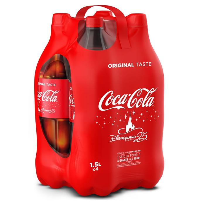 COCA - COLA : Boisson gazeuse -50 immediat Pack 4 *1,5L