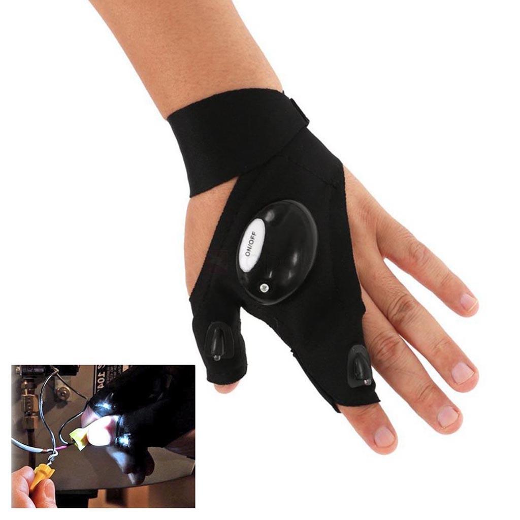 Gant lampe de poche avec 2 lumières LED pour l'activité nocturne