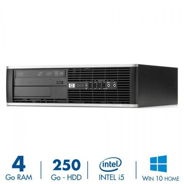 PC de bureau HP Compaq Elite 8200 SFF - Intel Core i5-2400 (3.10 GHz), RAM 4 Go, HDD 250 Go, Windows + Clavier et Souris (Reconditionné)