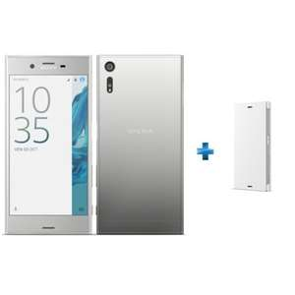 """Smartphone 5.2"""" Sony Xperia XZ Platine - Full HD, 32 Go + Flip cover Sony XZ Platine"""