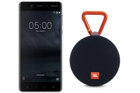 "Smartphone 5.2"" Nokia 5 - HD, Snapdragon 430, RAM 2 Go, ROM 16 Go + Enceinte Sans-fil JBL Clip 2 Noir - Bluetooth (Via ODR 30€)"
