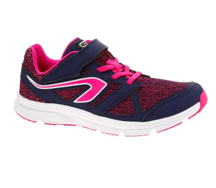 Baskets de running Kalenji Active Easy pour Enfant - Marine Rose (tailles 36 ou 38)