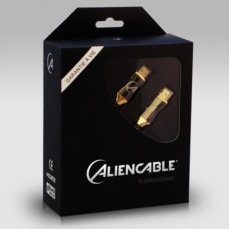 Câble HDMI Aliencable Sunrise Series (Plusieurs tailles) - Ex : 5m