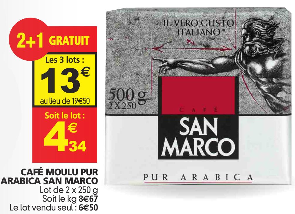 3 Lots de 2 paquets de café moulu San Marco 250gr