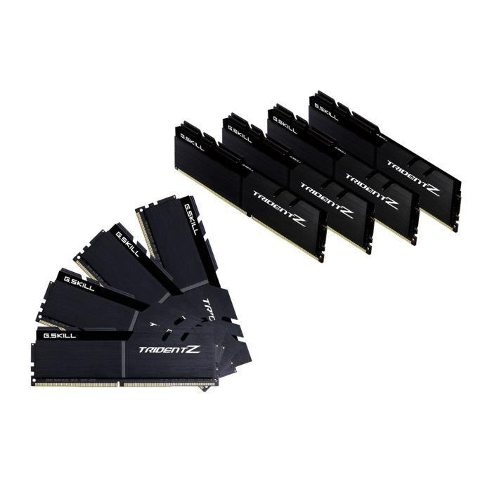 Kit Mémoire PC GSKILL  Trident Z - PC4-33600 - 64Go (8x8Go) - DDR4 - 4200 Mhz