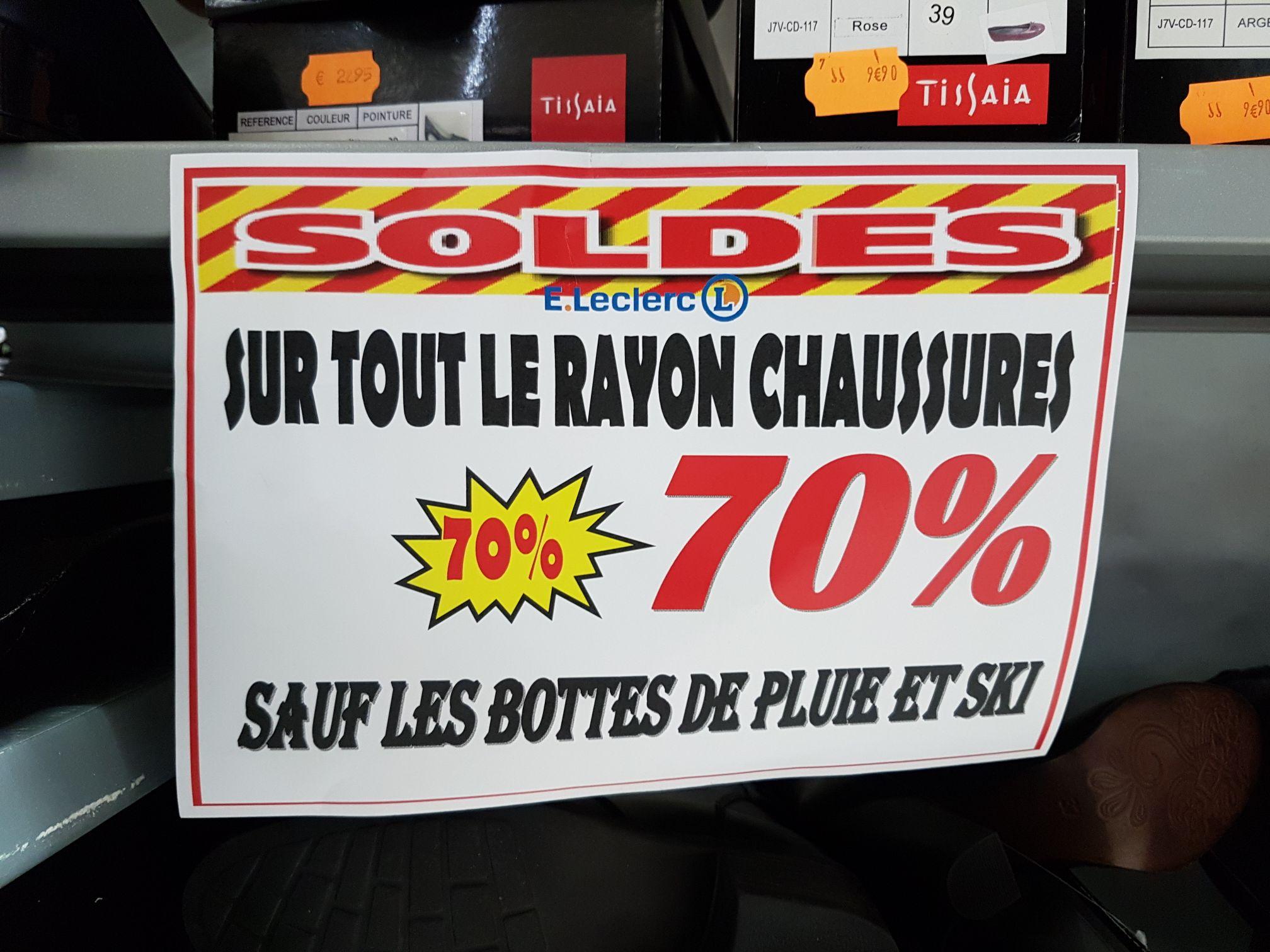 -70% sur le rayon chaussures (sauf les bottes de pluie et ski) - Grézieu-la-Varenne (69)