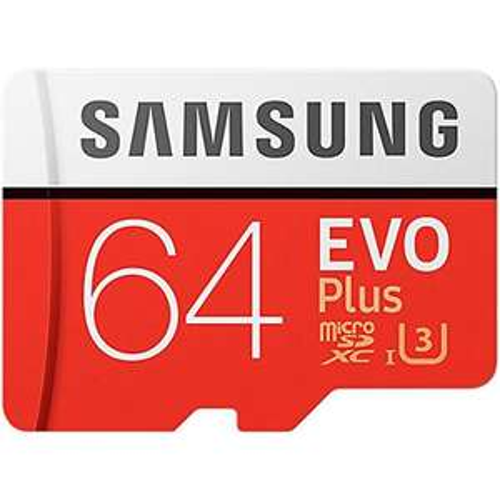 Carte mémoire microSDXC  Samsung 64Go Evo Plus UHS-I U3 + Adaptateur SD