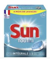 Tablettes Lave-vaisselle Tout-en-1 Standard Sun (Via Carte de Fidélité + BDR)