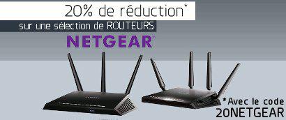 20% de réduction sur les routeurs WiFi Nighthawk Netgear