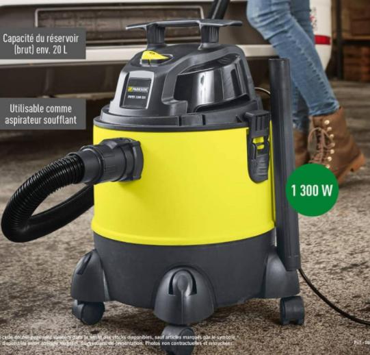 aspirateur eau et poussi re 1300w 20l. Black Bedroom Furniture Sets. Home Design Ideas