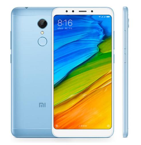 """Smartphone 5.7"""" Xiaomi Redmi 5 Bleu - Snapdragon 450, ROM 32 Go, RAM 3 Go, 4G (avec B20)"""