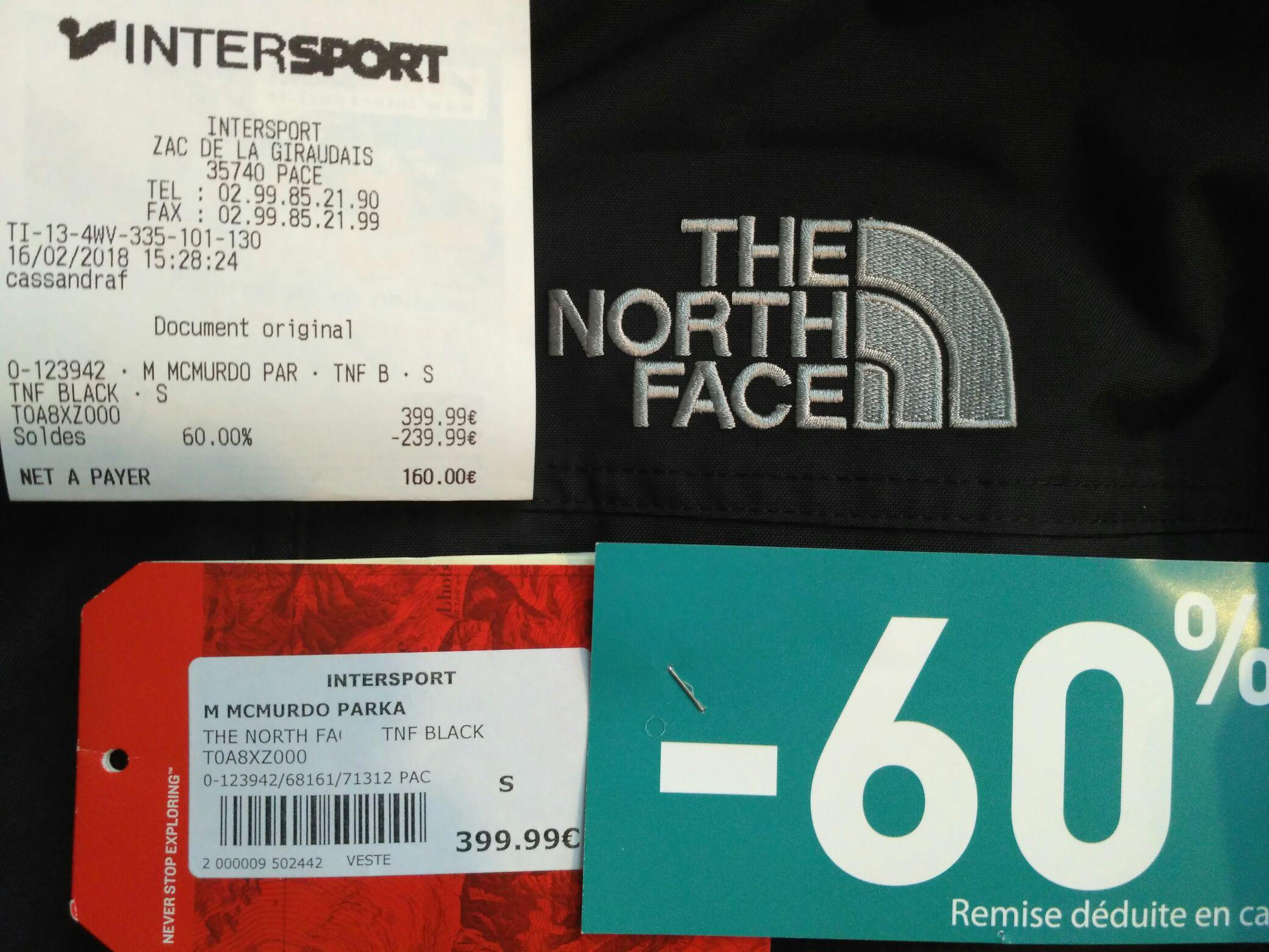Veste The North Face McMurdo - Différentes tailles - Pacé (35)
