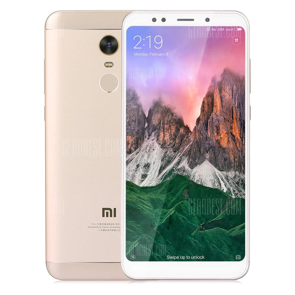 """Smartphone 5.7"""" Xiaomi Redmi 5 - SnapDragon 450, 3 Go de RAM, 32 Go, 4G (B20), or"""