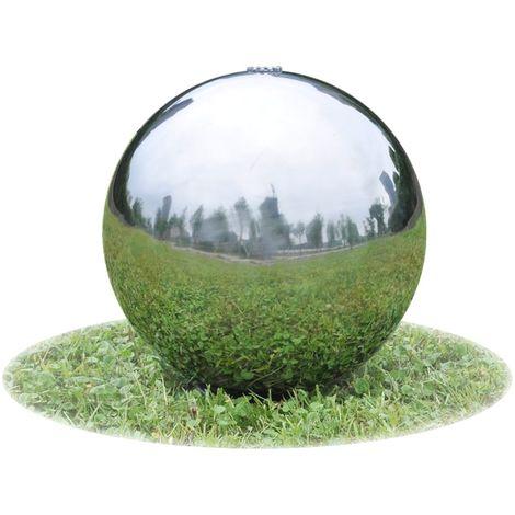 Fontaine de jardin boule inox diamètre 40cm (vendeur tiers ...