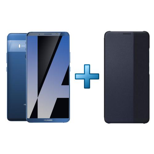 "Smartphone 6"" Huawei Mate 10 Pro Dual SIM (4G) - Bleu + Etui Flip Bleu (via 50€ ODR)"