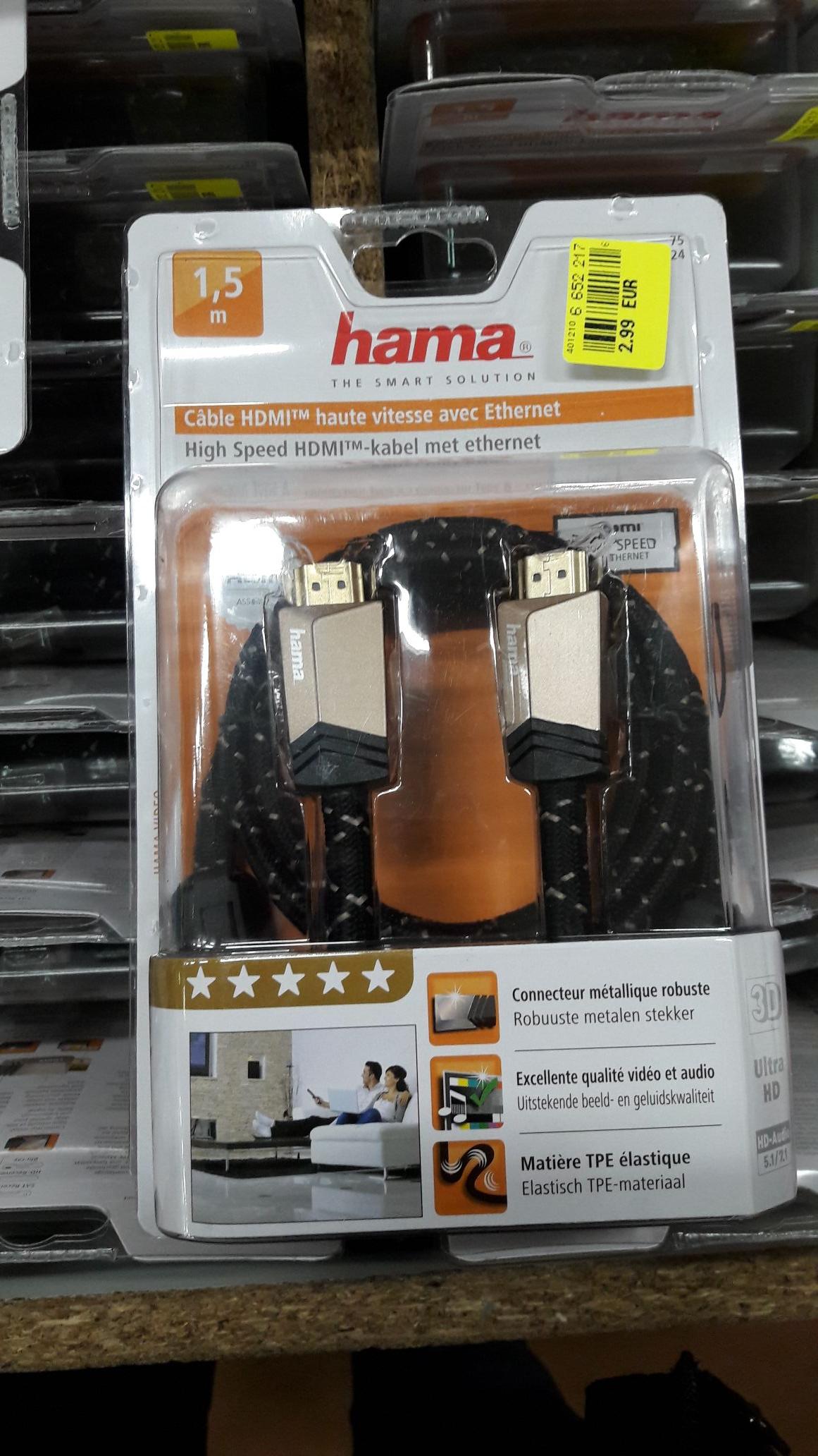 Câble HDMI 1,5m Hama - Saint Lo (50)