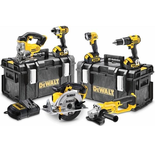 Pack 6 outils Dewalt 18V Li-Ion (3x4Ah) - DCK691M3 - Guedo