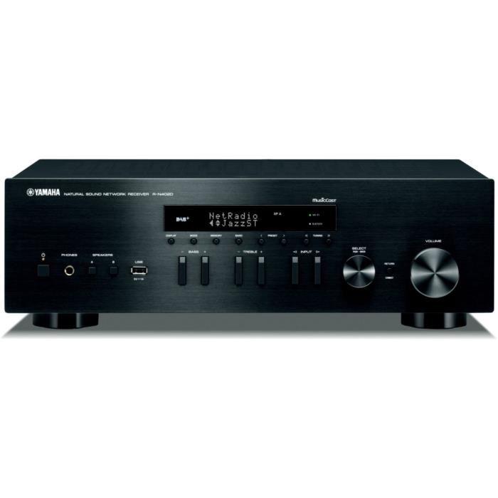 Amplificateur Hifi connecté Yamaha R-N402D - Noir