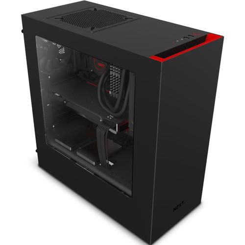 Boîtier PC NZXT S340 Source (noir/rouge)