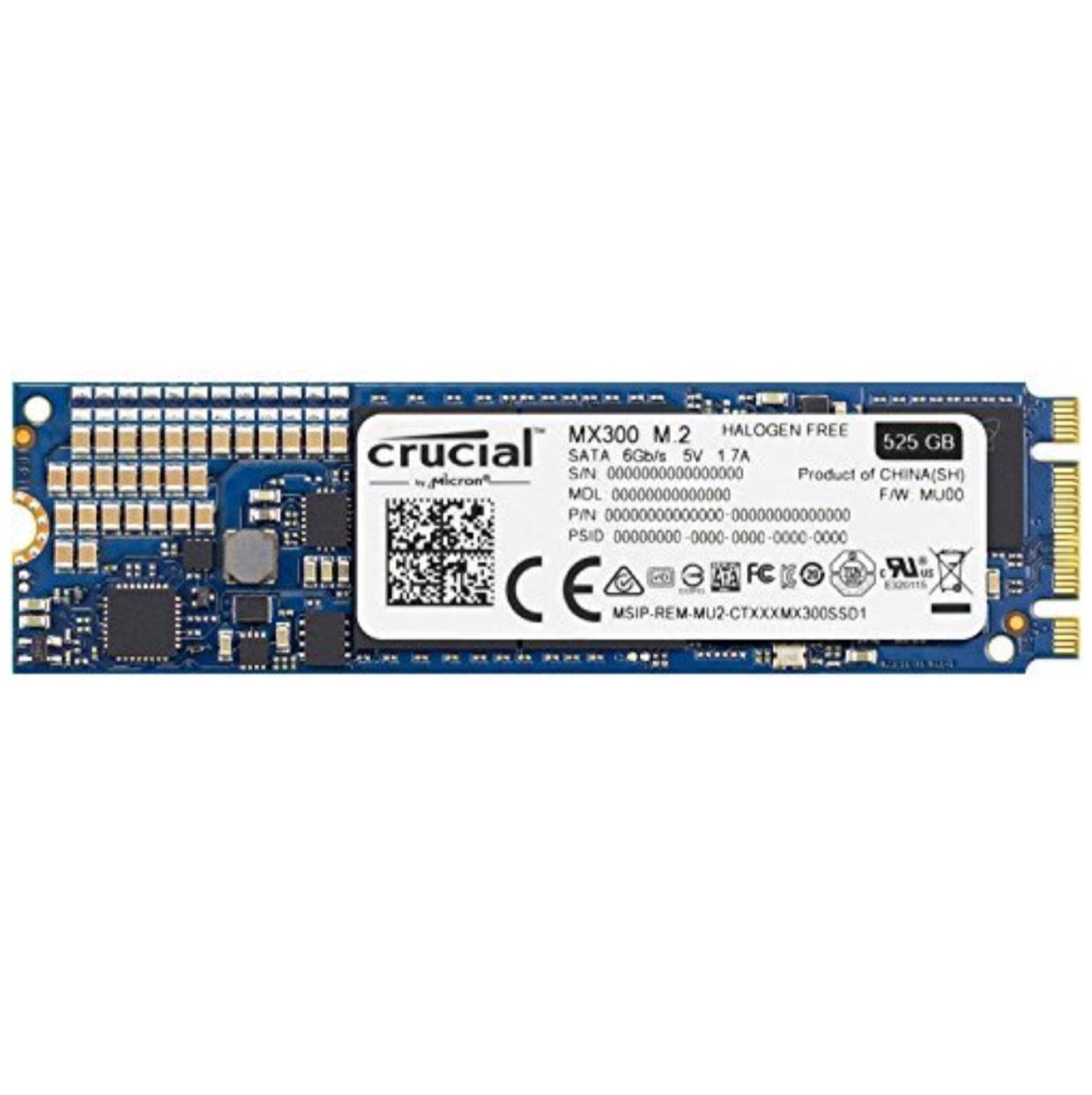 SSD interne M2 Crucial MX300 2280 - 525 Go